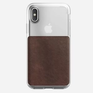 NWOT Nomad clear case with Horween leather iPhoneX
